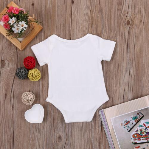 Newborn Baby Girl Straight Outta Romper Playsuit Outfits Clothes