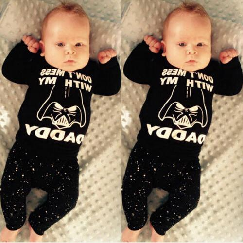 Newborn Kid Baby Boys Girls Top Rompers+Long Outfit Cotton wea