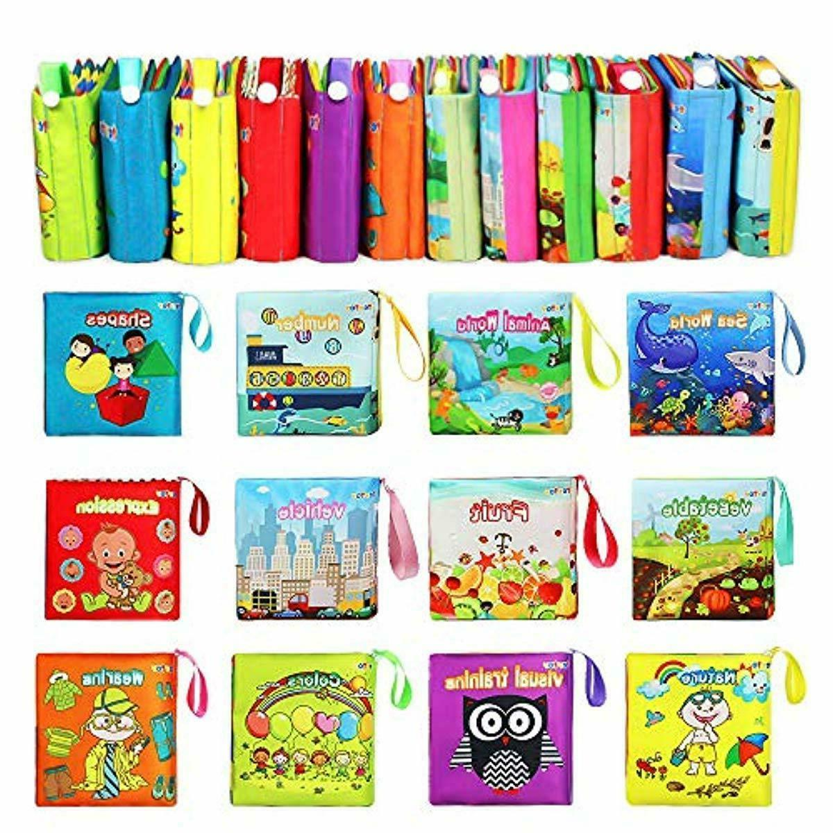 Nontoxic Fabric Cloth Activity Soft Books for Girl