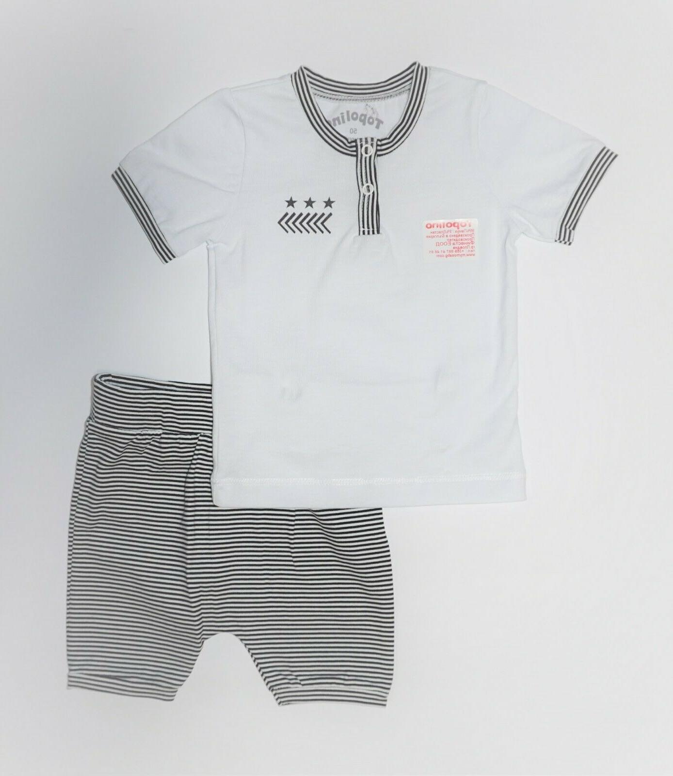 NWT, 2 set, and shorts,95% Cotton, 5% Lycra