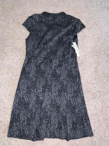 NWT New L Gray Black Business Size