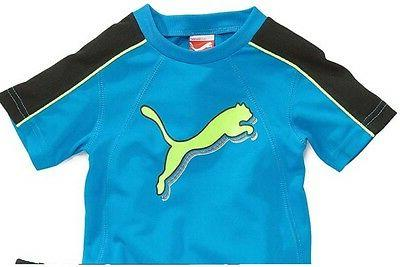 NWT 24 PUMA 2 PC OUTFIT BLUE,BLACK,YELLOW 2T NEW