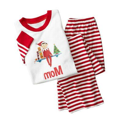 parent-child clothes stripe home outfits costume
