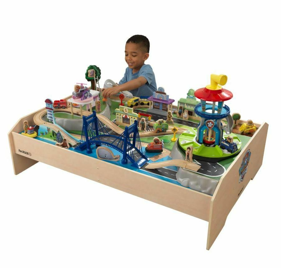 Play Table For Toddler Kids Paw Toy Playset Train Set