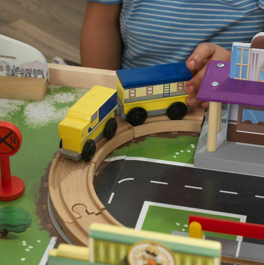 Play Table Toddler Kids Patrol Toy Train