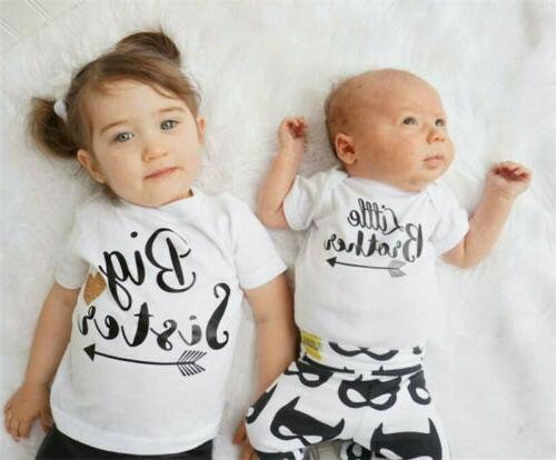 Sister Matching Baby Romper T-shirt Outfits