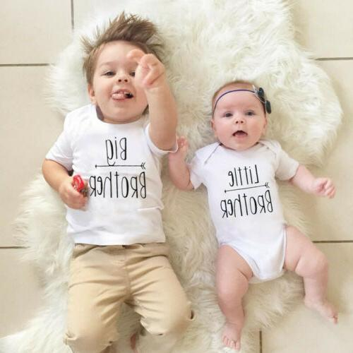 Sister Matching Baby Girls T-shirt Outfits Clothes Set