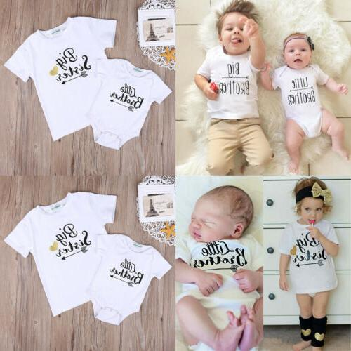 Sister Brother Baby T-shirt Outfits