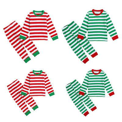 stripe parent-child round home outfits