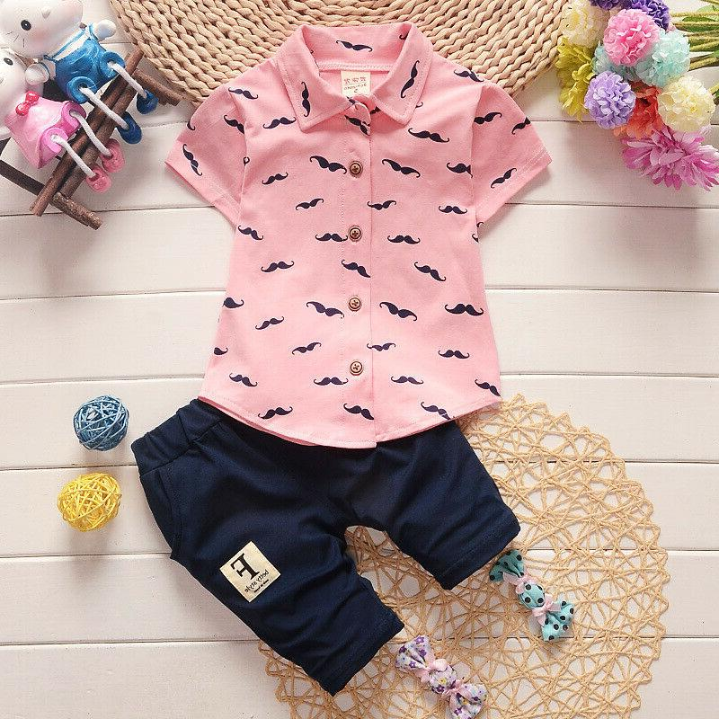 Summer Kids Clothes Boys Outfits Sets T-Shirt