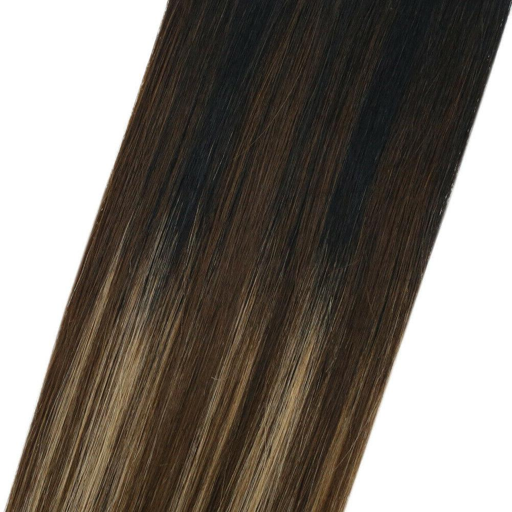 Sunny Hair Remy Hair Invisible Wire Balayage #1b/4/27