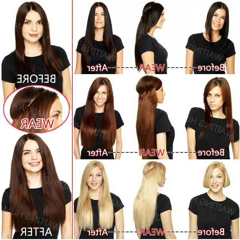 THICK Hair Halos Invisible Wire Weft Extensions