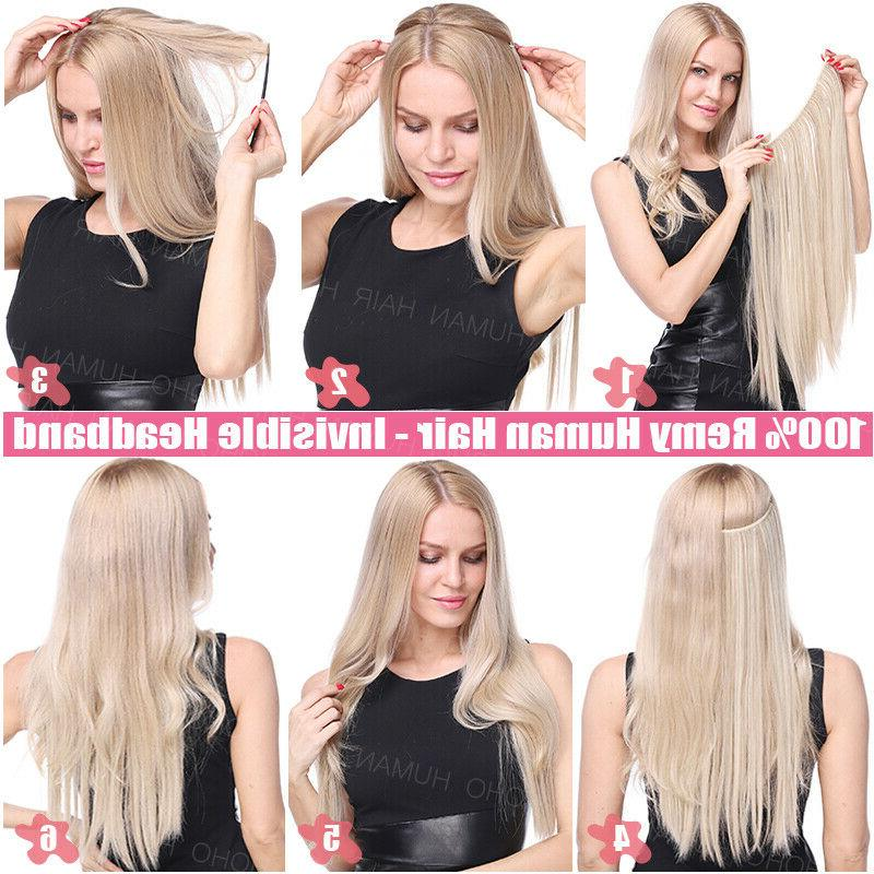 THICK Hair Crown Invisible Weft Extensions