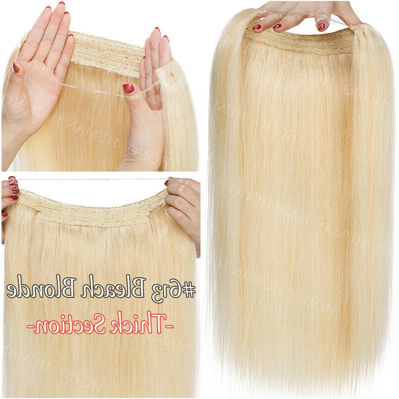 THICK Human Invisible Wire Weft Extensions