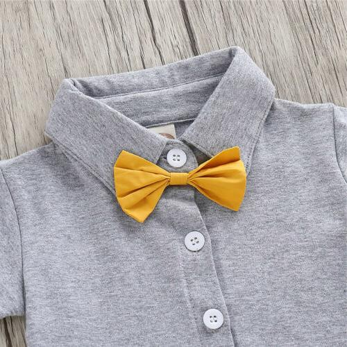 Toddler Boy 2PCS Clothes Bow Top And