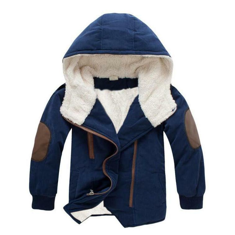 Toddler Winter Outerwear Fur Hooded Clothing