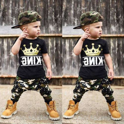Toddler Kids Baby Tops Pants 2Pcs Outfits Set