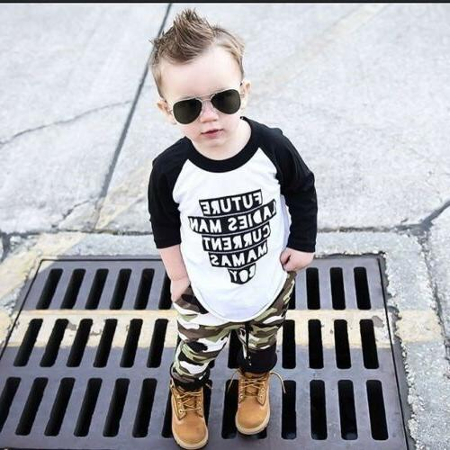 US Boys Clothes Outfit T Leggings