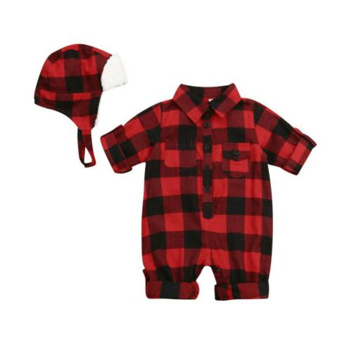 US Baby Boy Jumpsuit Toddler Xmas Clothes