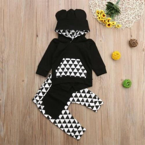 US Toddler Baby Girl Outfits Clothes Sweatshirt+Pants