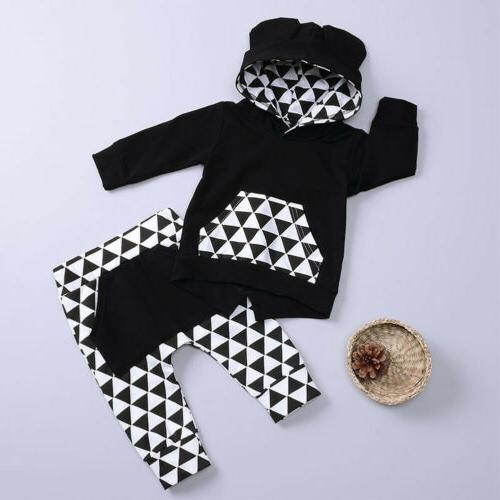 US Infant Baby Girl Clothes Hoodie