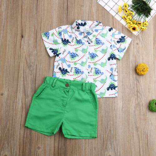US Baby Boys Clothes Tops+Pants Shorts Outfits
