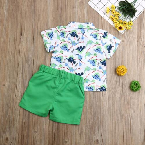 US Baby Boys Clothes Tops+Pants Shorts Gentleman Outfits