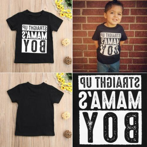 US MAMA'S Toddler Clothes T Shirt Neck