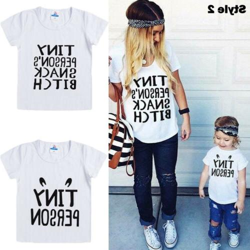 US Mom and Baby Girl Boy Clothes Matching Parent-child Clothes