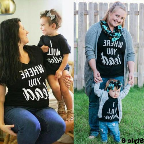 US Mom Girl Matching Outfit Top Clothes