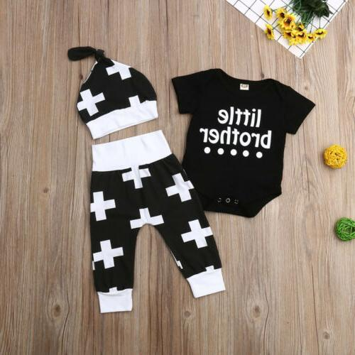 US Newborn Infant Boy Brother Long Outfits Clothes