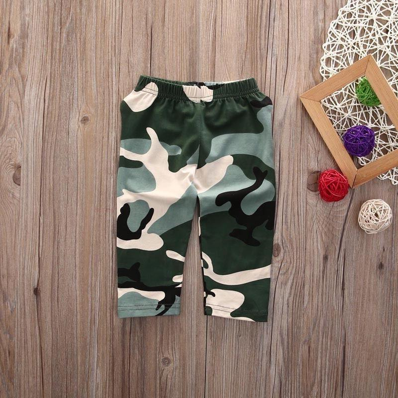 US Stock Baby Boy T Tops+Camouflage Pants Outfits Set