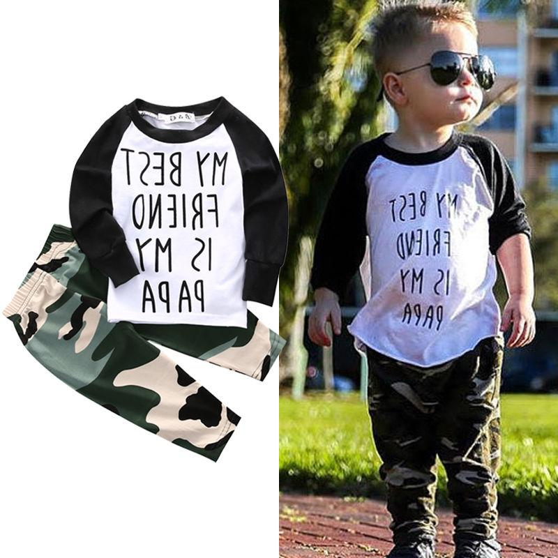 US Stock Baby T Tops+Camouflage Set