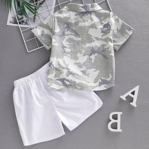 US Summer Boy Kid Boys Outfits Sets Pants