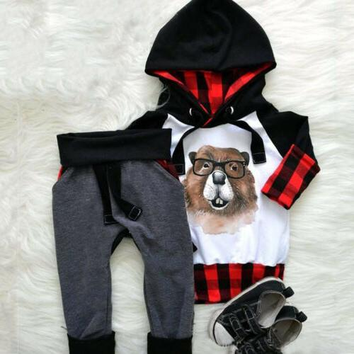 US Baby Girls Hoodie Outfits