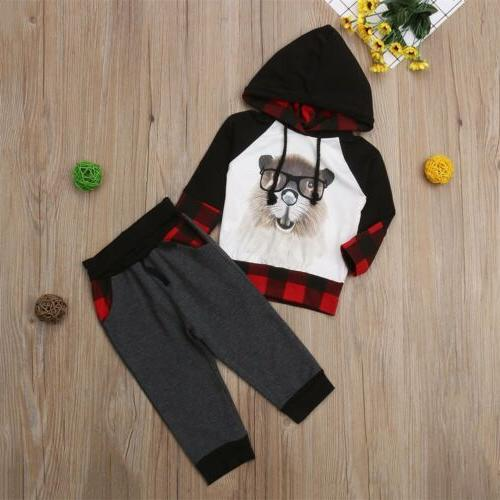 US Boys Girls Hoodie Outfits Toddler