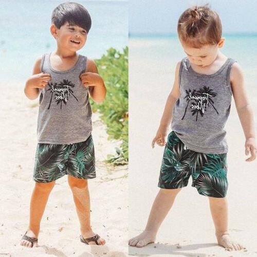 US Toddler Boy + Shorts Clothes Sets