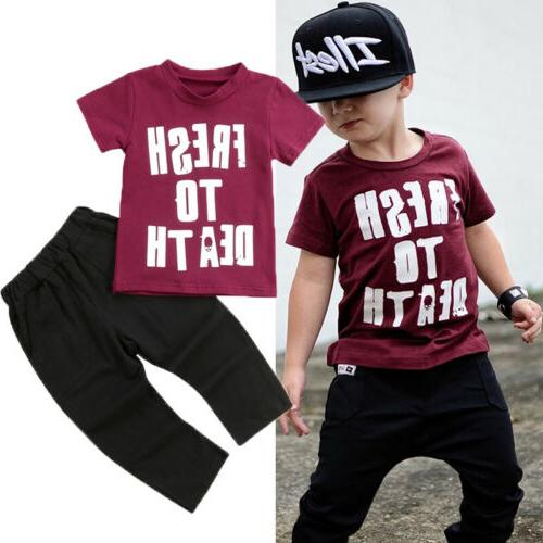 US Boy Tops Outfits Sets