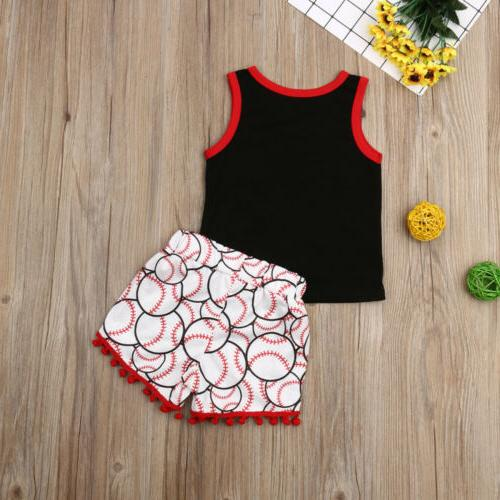 US Baby Girl Boy Clothes Tops Summer Outfit