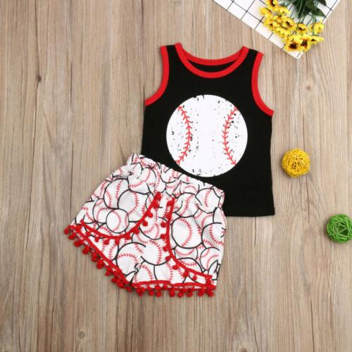 US Baby Girl Clothes Tops Pants Summer Outfit Set