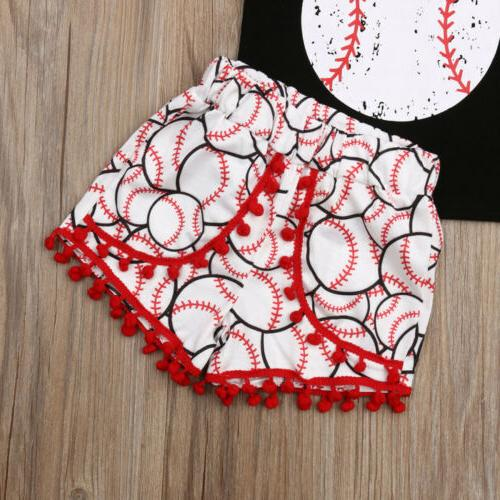 US 2PCS Girl Tops Outfit
