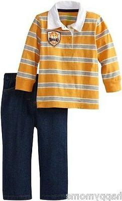 Watch Me Grow by Sesame Street Baby boys Clothes Lion Top&Pa