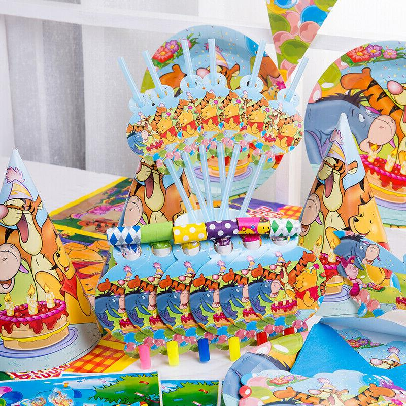 Winnie Boy Party Table Horn Plate Straw