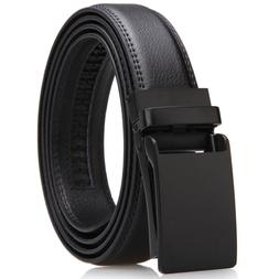 Leather Ratchet Belt for Men Dress with Click Buckle-Trim to