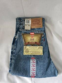 Levi's 521 Women's Size 8 Long Denim Jeans Tapered Fit Taper