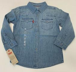 Levis Toddler Boys 4T Barstow Western Shirt NEW with TAG $44