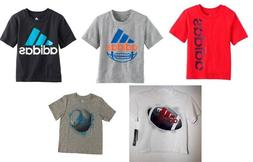 Adidas Little Boys Athletic Graphic Print Tee Shirt Choose S