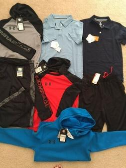 Lot of 7 new pieces of Boys clothes Size 10,Under Armour, Ni