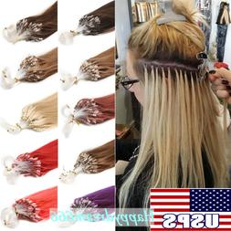 Micro Ring Beads Loop Tip Link Indian Remy Human Hair Extens