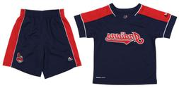 Majestic MLB Kids Cleveland Indians Classic Shirt and Short